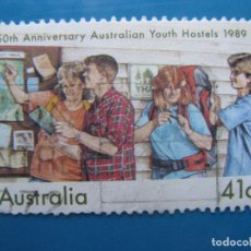 Sellos: +AUSTRALIA 1989, 50 ANIV. ALBERGUES JUVENILES, YVERT 1127. Lote 206382813