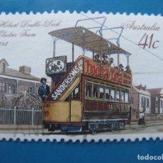 Sellos: +AUSTRALIA 1989, TRANVIAS HISTORICOS, YVERT 1133. Lote 206383855
