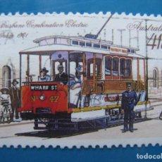 Sellos: +AUSTRALIA 1989, TRANVIAS HISTORICOS, YVERT 1134. Lote 206383988