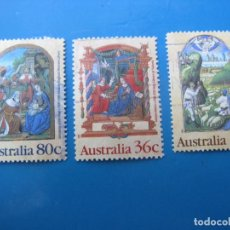 Sellos: +AUSTRALIA 1989, NAVIDAD, YVERT 1135/37. Lote 206384377