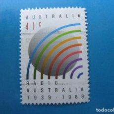 Sellos: +AUSTRALIA 1989, 50 ANIV. DE LA RADIO AUSTRALIANA, YVERT 1138. Lote 206385160