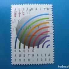 Sellos: +AUSTRALIA 1989, 50 ANIV. DE LA RADIO AUSTRALIANA, YVERT 1138. Lote 206385266