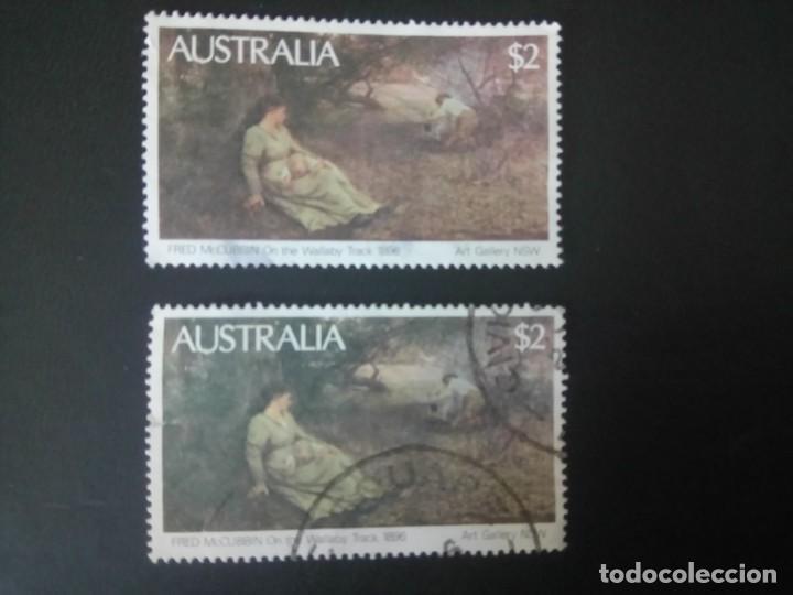 AUSTRALIA 1981, CUADRO DE FRED MCCUBBIN, YT 739/739A (Sellos - Extranjero - Oceanía - Australia)