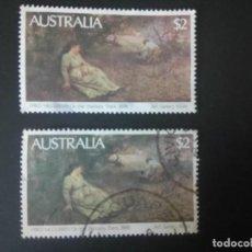 Sellos: AUSTRALIA 1981, CUADRO DE FRED MCCUBBIN, YT 739/739A. Lote 207285500