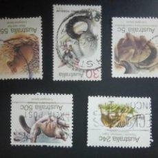 Sellos: AUSTRALIA 1981, FAUNA, 747,748,750/752. Lote 207286775