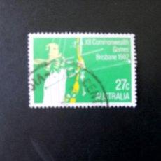 Sellos: AUSTRALIA - 1982, DEPORTES, TIRO CON ARCO, YT 789. Lote 208564507
