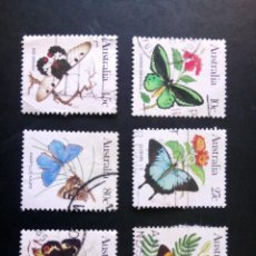 Sellos: AUSTRALIA - 1983, FAUNA, MARIPOSAS, YT 826 Y SS. Lote 208570575