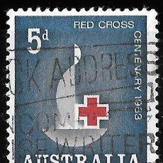 Sellos: AUSTRALIA 1963. CENTENARIO DE LA CRUZ ROJA. Lote 209793775