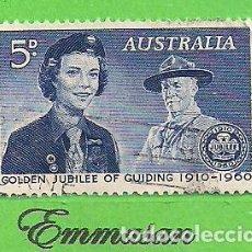 Sellos: AUSTRALIA - MICHEL 305 - YVERT 267 - L ANIVERSARIO DE LAS GUÍAS SCOUT FEMENINAS. (1960).. Lote 209996383