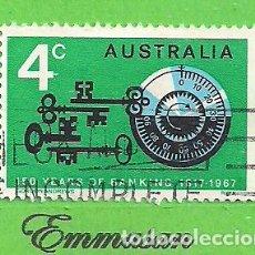Sellos: AUSTRALIA - MICHEL 381A - YVERT 357 - CL ANIVERSARIO DEL BANCO DE AUSTRALIA. (1967).. Lote 209998853