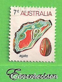AUSTRALIA - MICHEL 531I - YVERT 504 - FAUNA MARINA Y MINERALES. (1973). (Sellos - Extranjero - Oceanía - Australia)