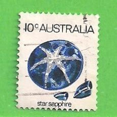 Sellos: AUSTRALIA - MICHEL 561 - YVERT 546 - MINERALES - ZAFIRO ESTRELLA. (1974).. Lote 210002848