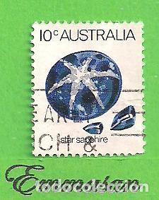 AUSTRALIA - MICHEL 561 - YVERT 546 - MINERALES - ZAFIRO ESTRELLA. (1974). (Sellos - Extranjero - Oceanía - Australia)