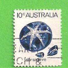Sellos: AUSTRALIA - MICHEL 561 - YVERT 546 - MINERALES - ZAFIRO ESTRELLA. (1974).. Lote 210002955