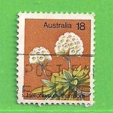 Sellos: AUSTRALIA - MICHEL 591 - YVERT 576 - PLANTAS - PLUMA DEL PRÍNCIPE. (1975).. Lote 210003490