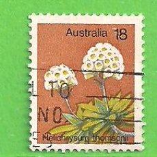 Sellos: AUSTRALIA - MICHEL 591 - YVERT 576 - PLANTAS - PLUMA DEL PRÍNCIPE. (1975).. Lote 210003607
