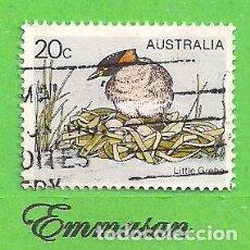 Sellos: AUSTRALIA - MICHEL 655 - YVERT 637 - PÁJAROS - ZAMPULLÍN COMÚN. (1978).. Lote 210004056
