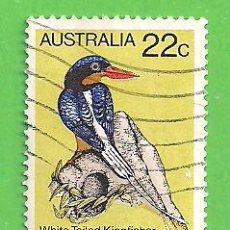 Sellos: AUSTRALIA - MICHEL 705 - YVERT 694 - PÁJAROS - MARTÍN PESCADOR DE COLA BLANCA. (1980).. Lote 210004386