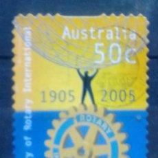 Sellos: AUSTRALIA CENTENARIO ROTARY INTERNACIONAL SELLO USADO. Lote 210126902