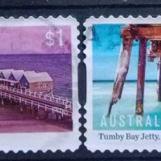 Sellos: AUSTRALIA RECIENTE PLAYAS AUSTRALIANAS SERIE DE SELLOS USADOS. Lote 210153765