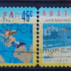 Sellos: AUSTRALIA VACACIONES SERIE DE SELLOS USADOS. Lote 210308268