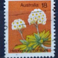 Sellos: AUSTRALIA FLORES SELLO USADO. Lote 210351527