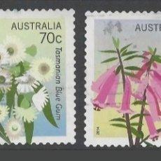 Sellos: AUSTRALIA FLORES SERIE DE SELLOS USADOS. Lote 210556282