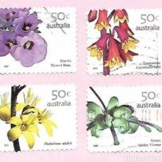 Sellos: AUSTRALIA 2007 FLORES SERIE DE SELLOS USADOS. Lote 210558575