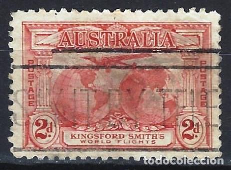 AUSTRALIA 1931 - VUELOS TRANSOCEÁNICOS DE SIR CHARLES KINSFORD SMITH - SELLO USADO (Sellos - Extranjero - Oceanía - Australia)