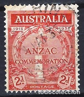 AUSTRALIA 1935 - 20º ANIV. DEL DESEMBARCO DE LAS TROPAS EN GALLIPOLI - SELLO USADO (Sellos - Extranjero - Oceanía - Australia)