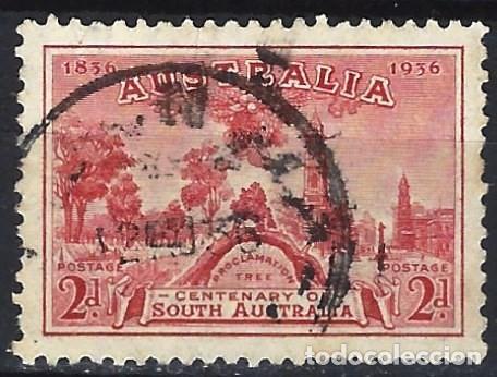 AUSTRALIA 1936 - CENTENARIO DEL ESTADO DE ADELAIDA - SELLO USADO (Sellos - Extranjero - Oceanía - Australia)