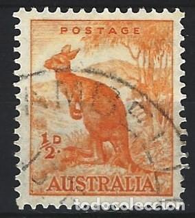 AUSTRALIA 1937-49 - FAUNA, CANGURO ROJO - SELLO USADO (Sellos - Extranjero - Oceanía - Australia)