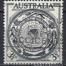 Francobolli: AUSTRALIA 1954 - EXPEDICIONES CIENTIFICAS AL POLO SUR - SELLO USADO. Lote 211507407