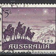 Francobolli: AUSTRALIA 1959 - NAVIDAD, LOS REYES MAGOS - SELLO USADO. Lote 211508884