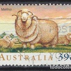 Sellos: AUSTRALIA 1989 - FAUNA, OVEJAS, MERINO - SELLO USADO. Lote 211612566