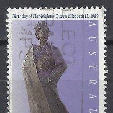 Sellos: AUSTRALIA 1989 - 63º ANIVERSARIO DE LA REINA ISABEL II - SELLO USADO. Lote 211612765