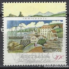 Sellos: AUSTRALIA 1989 - 2º CENTENARIO DE LA COLONIZACIÓN DE AUSTRALIA, BARCO DE INMIGRANTES - SELLO USADO. Lote 211612904
