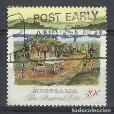 Sellos: AUSTRALIA 1989 - 2º CENTENARIO DE LA COLONIZACIÓN DE AUSTRALIA, CABAÑA DE PIONEROS - SELLO USADO. Lote 211613012