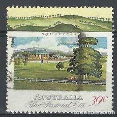 Sellos: AUSTRALIA 1989 - 2º CENTENARIO DE LA COLONIZACIÓN DE AUSTRALIA, CABAÑAS DE COLONOS - SELLO USADO. Lote 211613071