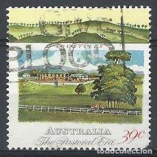 Sellos: AUSTRALIA 1989 - 2º CENTENARIO DE LA COLONIZACIÓN DE AUSTRALIA, CABAÑAS DE COLONOS - SELLO USADO. Lote 211613136