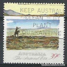 Sellos: AUSTRALIA 1989 - 2º CENTENARIO DE LA COLONIZACIÓN DE AUSTRALIA, EXPLORADOR - SELLO USADO. Lote 211613185