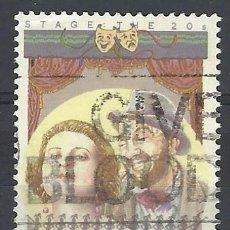 Sellos: AUSTRALIA 1989 - ACTORES, GLADIS MONCRIEFF & ROY RENE - SELLO USADO. Lote 211613287