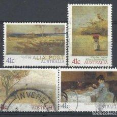 Sellos: AUSTRALIA 1989 - PINTURA IMPRESIONISTA, S.COMPLETA - SELLOS USADOS. Lote 211613451
