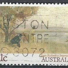 "Sellos: AUSTRALIA 1989 - PINTURA IMPRESIONISTA, ""IMPRESIÓN"". TOM ROBERTS - SELLO USADO. Lote 211613579"