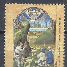 Sellos: AUSTRALIA 1989 - NAVIDAD, ADORACIÓN DE LOS PASTORES - SELLO USADO. Lote 211614021