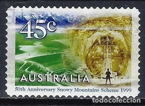 AUSTRALIA 1999 - 50º ANIV. COMPLEJO HIDROELECTRICO, TÚNEL TUMUT 2. 1960 - SELLO USADO ADHESIVO (Sellos - Extranjero - Oceanía - Australia)
