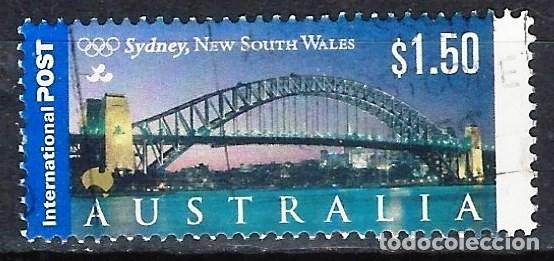 AUSTRALIA 2000 - TURISMO, PUENTE DE SYDNEY - SELLO USADO (Sellos - Extranjero - Oceanía - Australia)