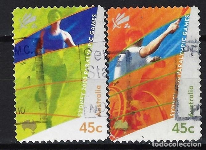 AUSTRALIA 2000 - JUEGOS PARALIMPICOS, SYDNEY, S.COMPLETA - SELLOS USADOS ADHESIVOS (Sellos - Extranjero - Oceanía - Australia)