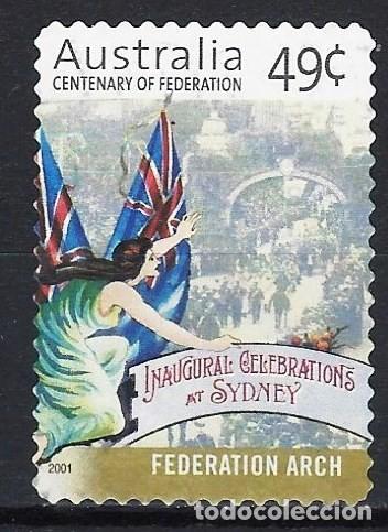 AUSTRALIA 2001 - CENTENARIO DE LA FEDERACIÓN, ARCO DE LA FEDERACIÓN - SELLO USADO ADHESIVO (Sellos - Extranjero - Oceanía - Australia)