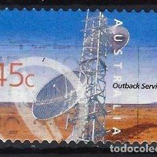 Sellos: AUSTRALIA 2001 - SERVICIOS INTERNOS, TORRE DE TELECOMNICACIONES - SELLO USADO ADHESIVO. Lote 211790290